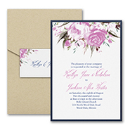 Enchanted Garden - Invitation with Pocket and Backer